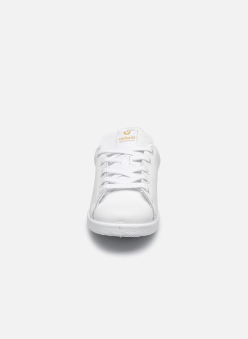 Sneakers Victoria Deportivo Basket Piel Glitter Vit bild av skorna på