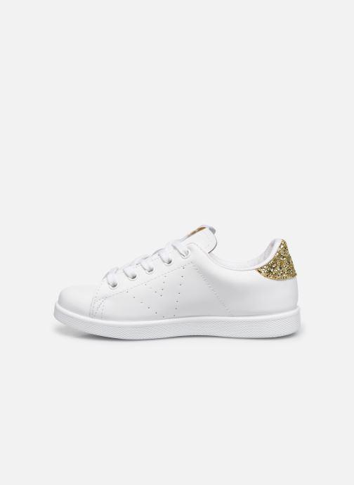 Sneaker Victoria Deportivo Basket Piel Glitter weiß ansicht von vorne