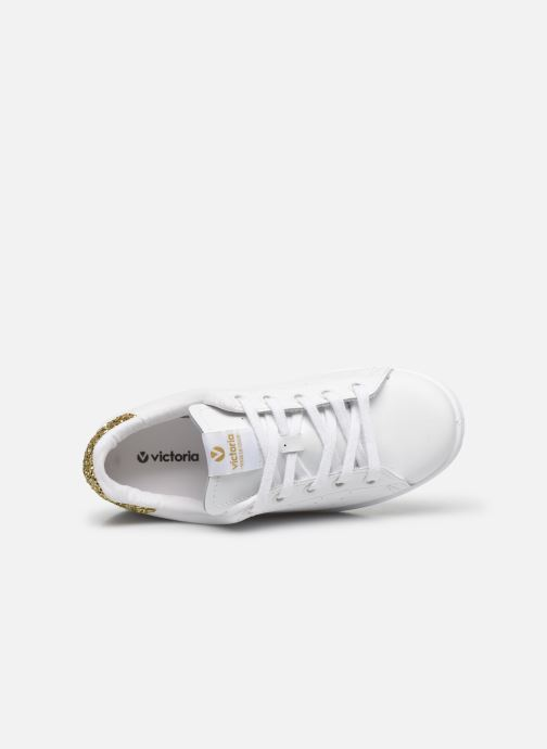 Sneakers Victoria Deportivo Basket Piel Glitter Wit links