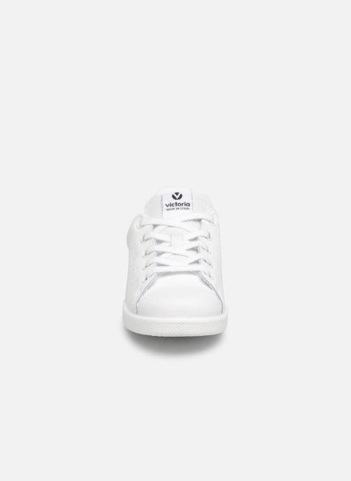 Sneakers Victoria Deportivo Basket Piel Glitter Bianco modello indossato