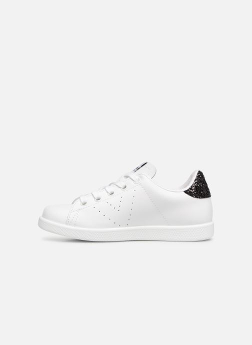 Sneakers Victoria Deportivo Basket Piel Glitter Bianco immagine frontale