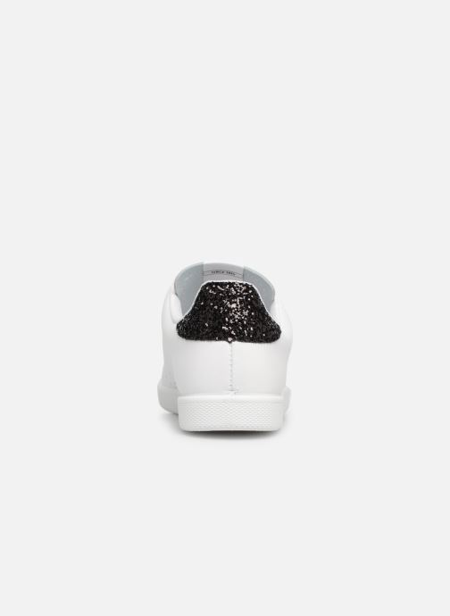 Sneakers Victoria Deportivo Basket Piel Glitter Bianco immagine destra