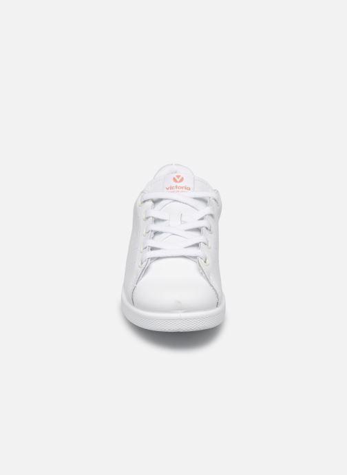 Baskets Victoria Deportivo Basket Piel Glitter Blanc vue portées chaussures