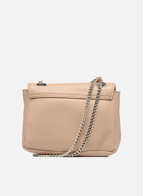 Bolsos de mano Esprit Chain leather Beige vista de frente