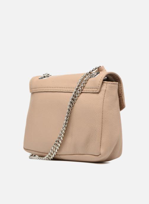 Bolsos de mano Esprit Chain leather Beige vista lateral derecha