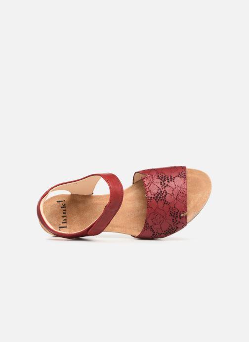 Sandales et nu-pieds Think! Traudi 84573 Rouge vue gauche