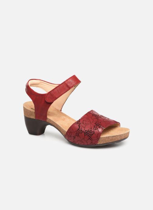 Sandaler Think! Traudi 84573 Röd detaljerad bild på paret