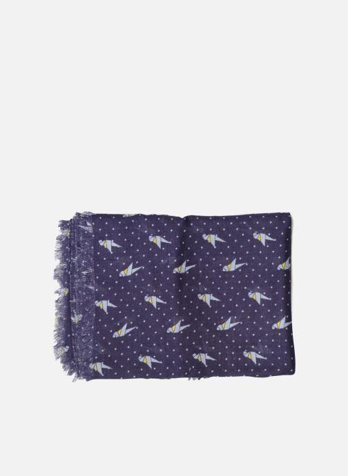 Scarf Esprit Print stripes scarf 100x200 Blue model view