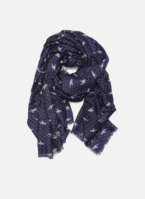 Halstørklæde og tørklæde Esprit Print stripes scarf 100x200 Blå detaljeret billede af skoene