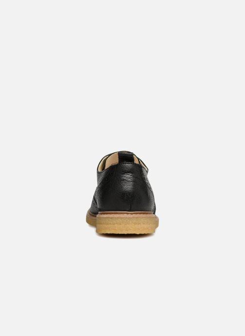 Zapatos con cordones Shoe the bear Paul M Negro vista lateral derecha