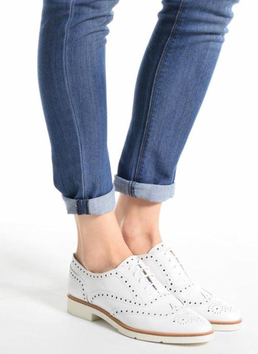 Chaussures à lacets JB MARTIN 1Falba Or et bronze vue bas / vue portée sac