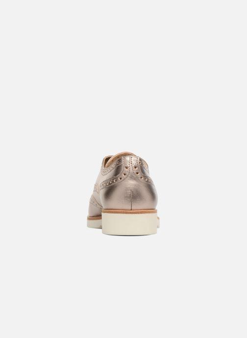 Zapatos con cordones JB MARTIN 1Falba Oro y bronce vista lateral derecha