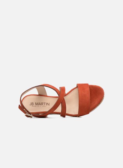 Sandales et nu-pieds JB MARTIN Dayane Orange vue gauche