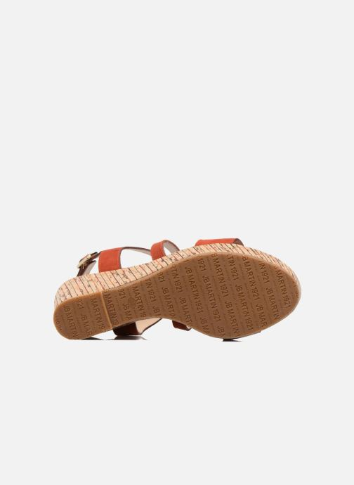 Sandales et nu-pieds JB MARTIN Dayane Orange vue haut