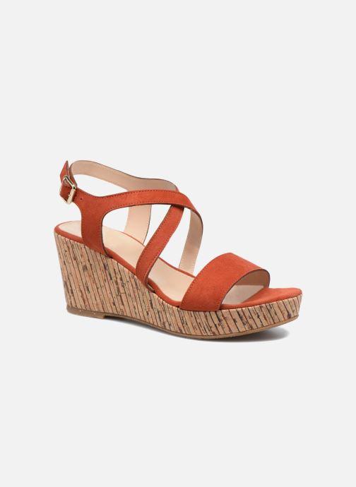 Sandales et nu-pieds JB MARTIN Dayane Orange vue détail/paire