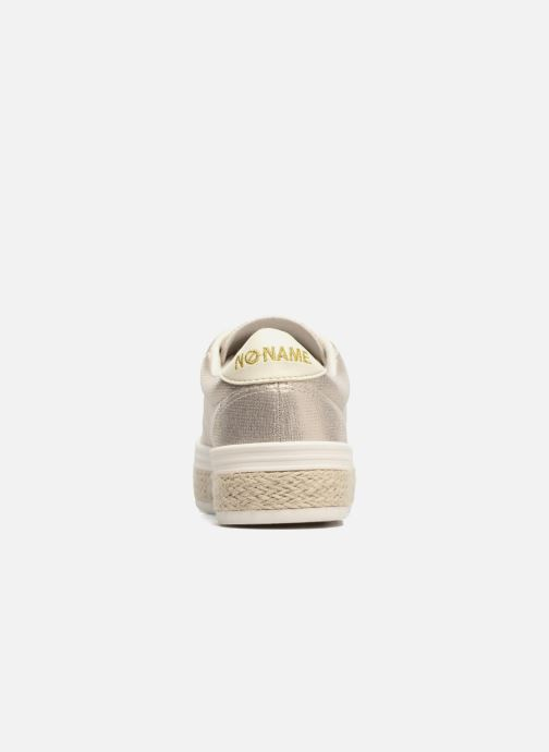 Baskets No Name Malibu Sneaker Or et bronze vue droite