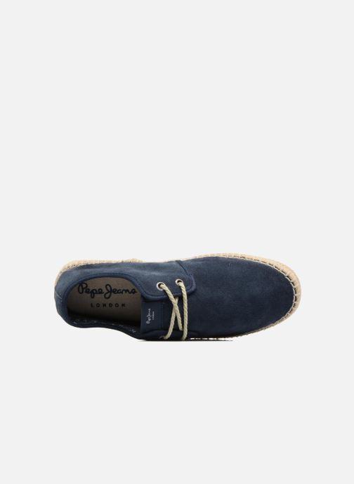 Alpargatas Pepe jeans Tourist Basic 4.0 Azul vista lateral izquierda