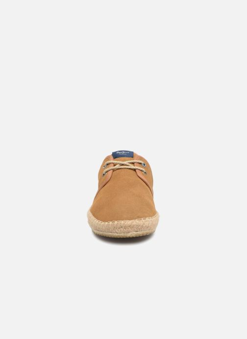 Espadrilles Pepe jeans Tourist Basic 4.0 Marron vue portées chaussures