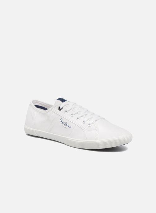 Baskets Pepe jeans Aberman 2.1 Blanc vue détail/paire