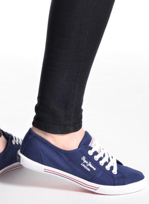 Baskets Pepe jeans Aberlady Basic 17 Bleu vue bas / vue portée sac
