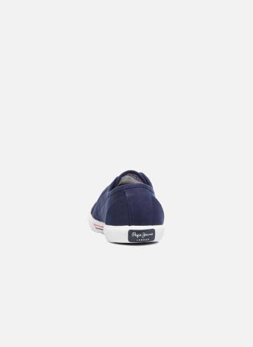 Baskets Pepe jeans Aberlady Basic 17 Bleu vue droite