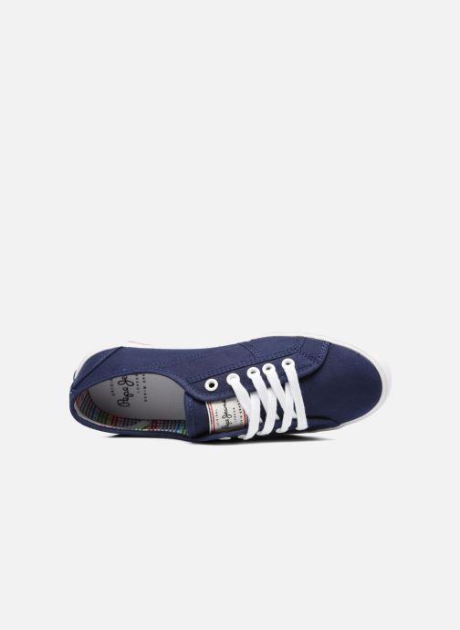 Baskets Pepe jeans Aberlady Basic 17 Bleu vue gauche