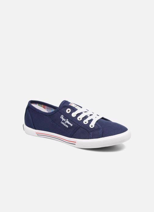 Baskets Pepe jeans Aberlady Basic 17 Bleu vue détail/paire