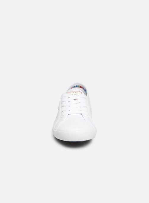 Sneaker Pepe jeans Aberlady Basic 17 weiß schuhe getragen