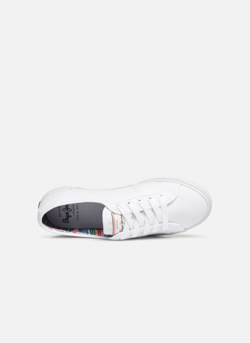 Sneaker Pepe jeans Aberlady Basic 17 weiß ansicht von links