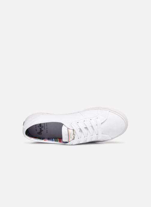 Baskets Pepe jeans Aberlady Basic 17 Blanc vue gauche