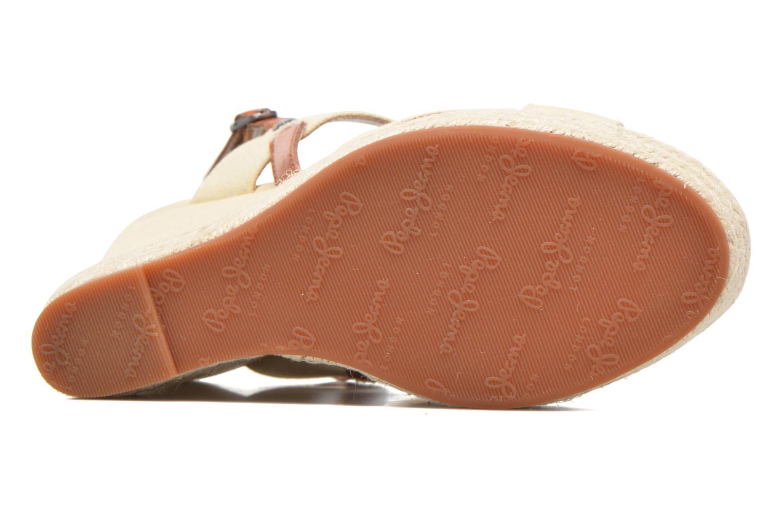 Sandalias Pepe jeans Walker Plain Beige vista de arriba