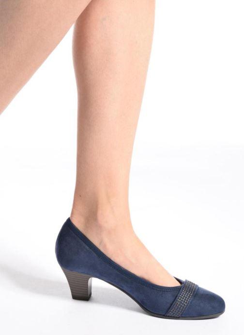 Escarpins Jana shoes Carla 2 Bleu vue bas / vue portée sac