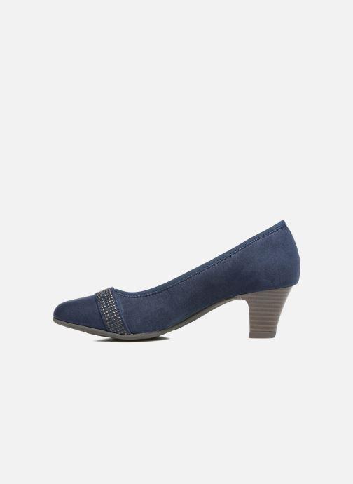High heels Jana shoes Carla 2 Blue front view