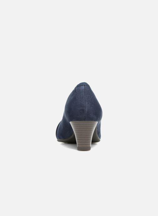 Escarpins Jana shoes Carla 2 Bleu vue droite