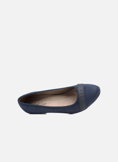 Escarpins Jana shoes Carla 2 Bleu vue gauche