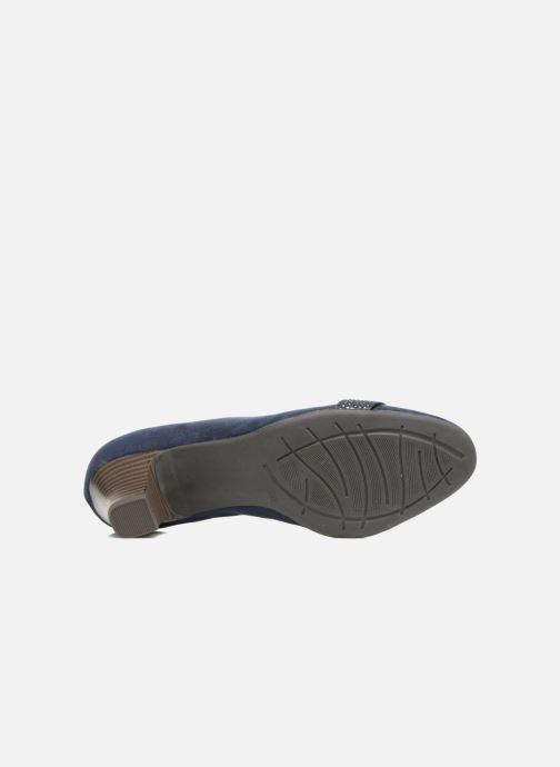 Escarpins Jana shoes Carla 2 Bleu vue haut