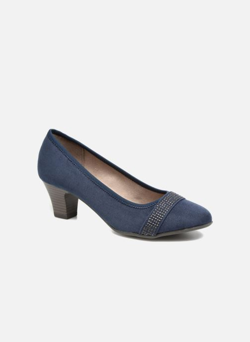High heels Jana shoes Carla 2 Blue detailed view/ Pair view