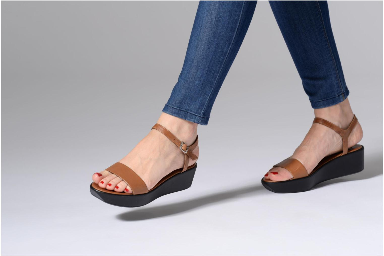 Sandales et nu-pieds Elizabeth Stuart Villau 304 Marron vue bas / vue portée sac
