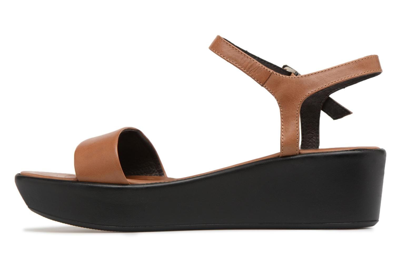 Sandales et nu-pieds Elizabeth Stuart Villau 304 Marron vue face