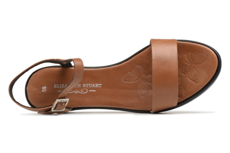 Sandales et nu-pieds Elizabeth Stuart Villau 304 Marron vue gauche