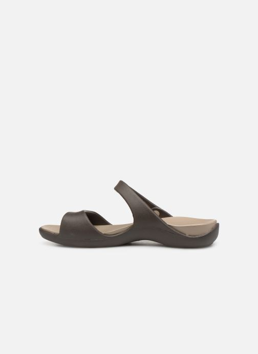 Mules & clogs Crocs Cleo V Brown front view