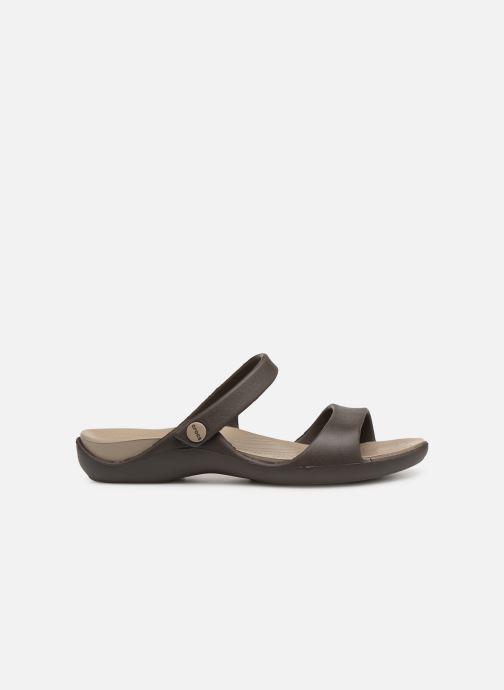 Wedges Crocs Cleo V Bruin achterkant