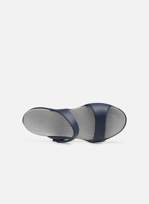 Mules & clogs Crocs Cleo V Blue view from the left