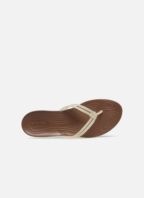 Chanclas Crocs Crocs Isabella Flip W Blanco vista lateral izquierda