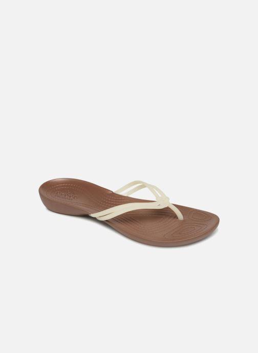 Tongs Crocs Crocs Isabella Flip W Blanc vue détail/paire