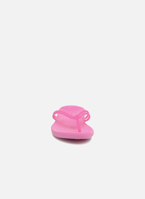 Tongs Crocs Crocs Isabella Flip W Rose vue portées chaussures