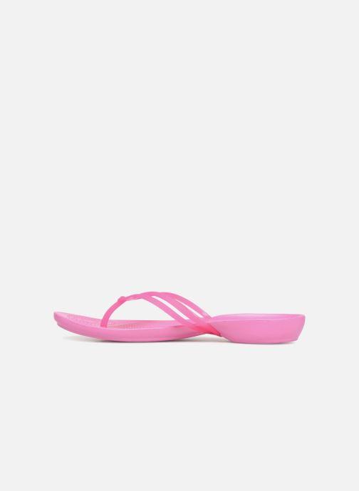 Zehensandalen Crocs Crocs Isabella Flip W rosa ansicht von vorne