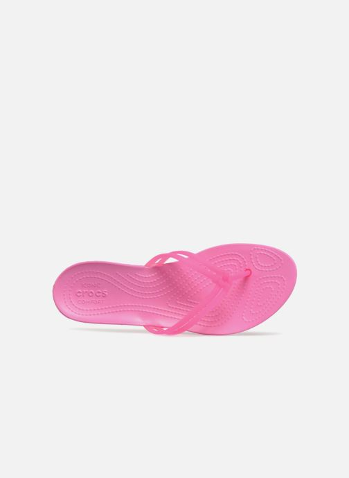 Flip flops Crocs Crocs Isabella Flip W Pink view from the left
