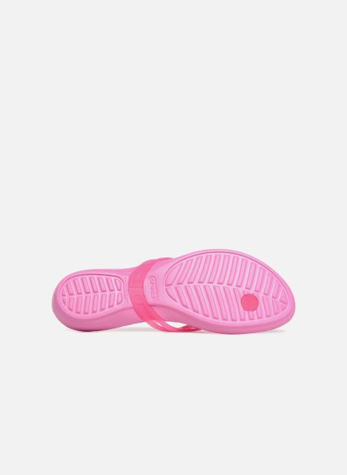 Tongs Crocs Crocs Isabella Flip W Rose vue haut