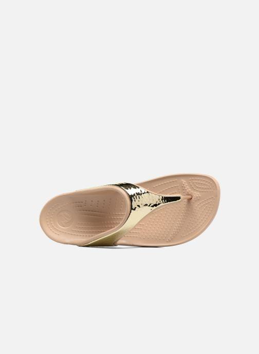 bef406e009e6 Flip flops Crocs Crocs Sloane Embellished Flip Bronze and Gold view from  the left